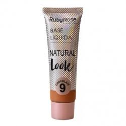 Base líquida Natural Look Ruby Rose Chocolate 09  - HB 8051